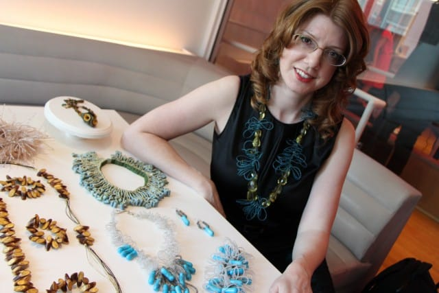 Couture Jewelry Designer Michelle Pajak-Reynolds at Nolcha Fashion Week